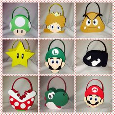 Super Mario Bros toad yoshi koopa star luigi princess peach party bags favor