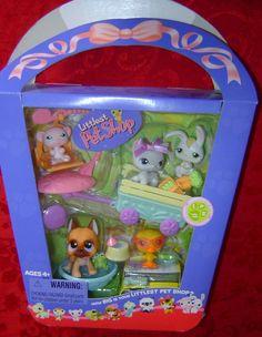 2006 Spring Basket #243-#247 5 pets Littlest Pet Shop LPS