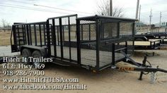 Hitch It Trailers Parts Service & Truck Accessories Lark, Haulmark, Tiger, Cross, Enclosed Trailer, Utility Gooseneck 5th Wheel flatbed cargo box trailer 5866 S. 107th e. Ave Tulsa Oklahoma 74146 918-286-7900 #HitchIt #TrailerSales #TrailerService #TrailerRepair #Trailer #TrailerParts #Tulsa #Oklahoma landscape trailer mowing weedeater spare rack gas can rack Tulsa Trailer Sales (R) www.HitchItTulsa.com