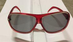 1970s Vtg Red Plastic Sport Aviator Miami Carrera Style Sunglasses Mid Century #Unbranded #Sport