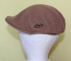 Vintage Camel Color Newsboy or Gold Hat with by ilovevintagestuff