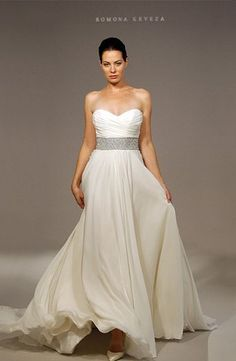 Romona Keveza Collection - Sweetheart A-Line Gown in Silk Chiffon Style 32347718