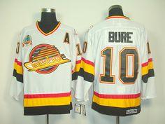 1994 Vancouver CANUCKS 10 Pavel BURE CCM White Jersey