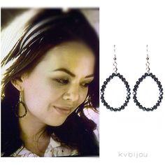 Mona's earrings on Pretty Little Liars | Gia earrings by kvbijou