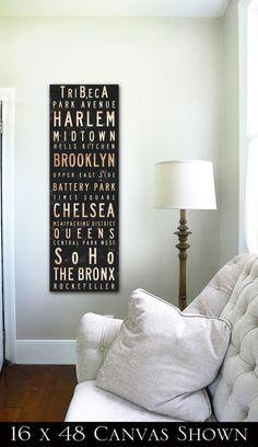 New York City buurten typografie foto galerie door geministudio