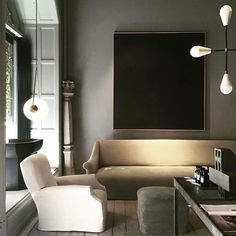 Studio Oliver Gustav, muted tones - great inspiration for classic , dark , moody interiors- perfect for all colours of house of chairs