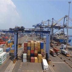 Kattupalli Port has a 1.2 million TEU capacity fed through 2 350-metre-long L-shaped berths with a total terminal area of approximately 20 hectares. The terminal has an option to rise container capacity to 1.8 million TEU, during the second phase of development. 6 ZPMC super-post-panamax, twin-lift, gantries are to be installed as well as 15 Noell one over five, 6+1 width RTGs, supported by a state-of the-art terminal management system.