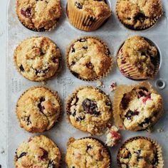 Fruit of the Forest Muffins - Healthy Muffin Recipes - Cooking Light