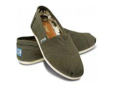 Toms Olive Canvas Women's Classics $16.89 #toms #shoes #fashion