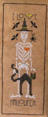I Love Halloween - Cross Stitch Pattern