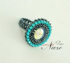 Bead PATTERN - Fume... - Beaded Ring Tutorial. $5.50, via Etsy.