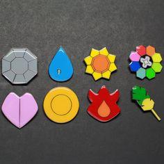 Pokemon Badges from the Kanto region. by PokemonBadges on Etsy, $39.00