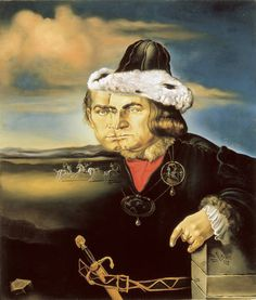 Salvador Dalí - Portrait of Laurence Olivier in the Role of Richard III, 1955