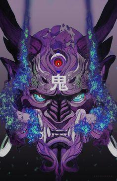 New tattoo dragon ball anime 59 ideas Couple Fotos, Oni Mask, Japon Illustration, Samurai Artwork, Arte Cyberpunk, Japanese Tattoo Art, Japan Art, Japan Japan, Arte Horror