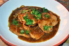Pork Cutlets with Salsa Verde & Fried Plantains   Sweet Caroline's Corner