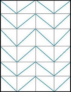 tutorial chevron pattern