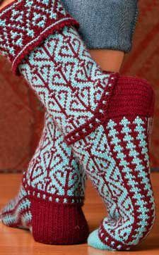 A note from Kathleen: It's time to snuggle into your couch and tuck into some sock knitting. Here's Sockupied Editor Anne Merrow to give you some inspiration!      Pumpion Socks by Julie Suchomel Turnalar Socks By Leslie Comstock Sock-Knitting Season The last week has brought weather from coast to coast in the United States—snow in…