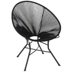 The Wooden Horse - Acapulco Rope Chair in black