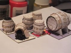 Every self respecting cheesy stock fantasy dungeon environment needs barrels? Right? Well, in this part of Grim's Dungeons of Doom, I'm going to show you how to create whatever barrels …
