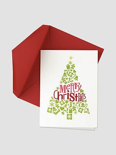 Chloe B. - Merry Christmas Tree Greeting Cards/Set of 8