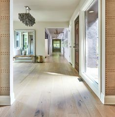 Light-toned wide plank wood flooring is often chosen for contemporary homes, as it adds visual interest to an interior without drawing attention away from other design elements. #WidePlankFlooring #LightWoodFlooring #FlooringIdeas Natural Wood Flooring, Wide Plank Flooring, Beautiful Interior Design, Contemporary Interior, White Oak Floors, Types Of Flooring, Custom Wood, My Dream Home, Lighter