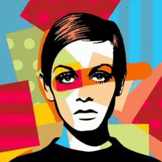 Twiggy Pop Art #popart #lobopopart