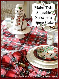 Snowman Spice Cake that anyone can make by Between Naps on the Porch