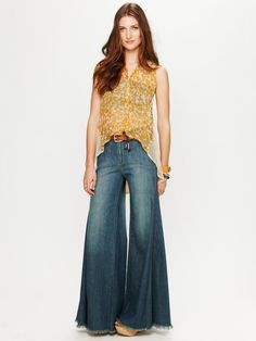 Waisted Extreme Vintage Flare-  I want extreme flared jeans to be cool again...