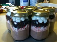 Homemade hot chocolate kits for Christmas gifts...first thing I've successfully made from Pinterest! :)