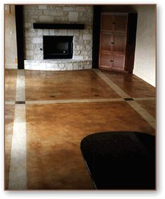 stained concrete floor designs