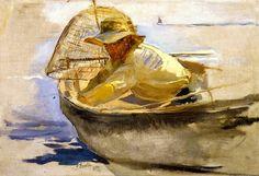 Estudio del Regreso de la pesca - Joaquín Sorolla y Bastida - 1894