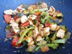 Wok de pollo y verduras, recetas dieta paleolítica