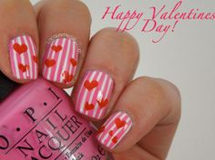 Uñas decoradas de San Valentín –  Love Nails. #Nails #Love #ValentiDay