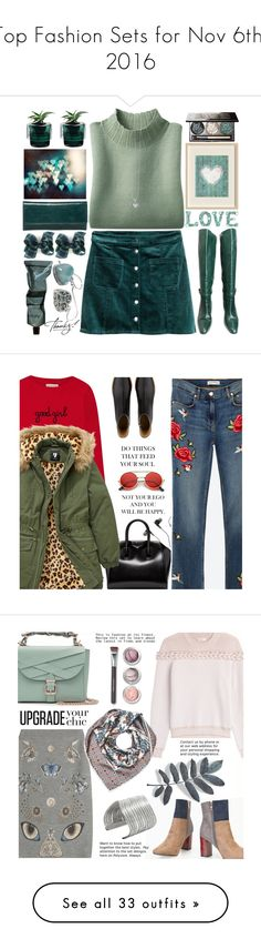 """""""Top Fashion Sets for Nov 6th, 2016"""" by polyvore ❤ liked on Polyvore featuring Gucci, HOBO, Nude, Chantecaille, Aesop, BillyTheTree, Lagos, Merkury, Givenchy and Chinti and Parker"""