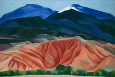 ladyburde: Georgia O'Keeffe, Black Mesa Landscape, New Mexico / Out Back of Marie's II, Oil on canvas mounted to board. 24 ¼ x 36 ¼. Georgia O'Keeffe Museum. Gift of The Burnett Foundation © Georgia O'Keeffe Museum Alfred Stieglitz, Georgia O'keeffe, New Mexico, Georgia O Keeffe Paintings, New York Art, Expositions, Vintage Design, Vintage Art, Community Art