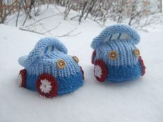 3-9 months hand knitted baby booties cars, Childrens Clothing. $18.00, via Etsy.