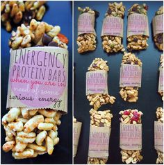 Energency Protein Bars.  Six clean Vegan ingredients, could easily be bad Gluten free, no baking required.  ~Undressed Skeleton