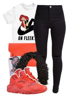 """ariel"" by lovebrii-xo ❤ liked on Polyvore featuring NIKE, Givenchy and New Look"