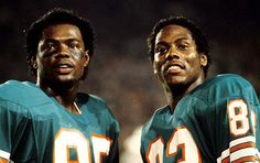 Miami Dolphins wide receivers Mark and Mark The dreaded Mark II offense. Miami Dolphins Memes, Dolphins Cheerleaders, Nfl Miami Dolphins, Football Gear, Football Memes, Football Players, Football Pics, Football Stuff, School Football