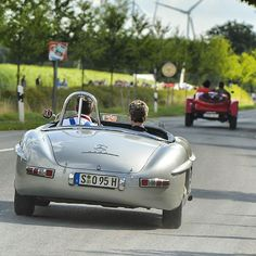"Formula One Safety Car pilot Bernd Mayländer driving the 1957' Mercedes-Benz #300SLS ""Paul O'Shea"" during ""Classic Days"" at Schloss Dyck (Germany). Source: instagram (driversclubgermany) Mercedes Benz 300, Ladies Gents, Drop Top, Formula One, Pilot, Safety, Germany, Cars, Classic"