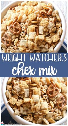 Weight Watchers Chex Mix is a healthier version of chex mix. This recipe is the .Weight Watchers Chex Mix is a healthier version of chex mix. This recipe is the perfect Weight Watchers snack recipe! Low in Freestyle SmartPoints. via Life is Sw Weight Watcher Desserts, Weight Watchers Snacks, Weight Watchers Smart Points, Weight Loss Snacks, Weight Watcher Cookies, Healthy Chex Mix, Healthy Snacks, Healthy Recipes, Healthy Fruits