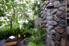 Outdoor rain shower in paradise #namaleresort