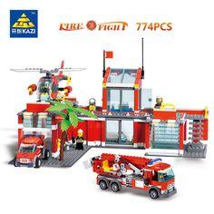 Kazi City Emergency Rescue Fire Station Blocks 774pcs Bricks Building Blocks Sets Education Toys For Children