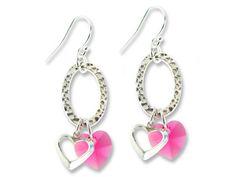 Double Hearts Earring Design