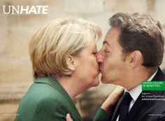 United Colours of Benetton (Fabrica, Italy Awards: Cannes Lions Grand Prix: Clio Awards Gold) Social Advertising, Creative Advertising, Advertising Campaign, Guerrilla Advertising, Social Campaign, Advertising Strategies, Guerrilla Marketing, Print Advertising, International Kissing Day