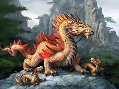 Anne Stokes, Magical Creatures, Fantasy Creatures, Fantasy Dragon, Fantasy Art, Mythological Animals, Dragon Family, Mythical Dragons, Kobold