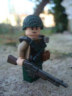 Lego Custom Minifig WW2 U s Army Bar Gunner Minifigure RARE Unique | eBay