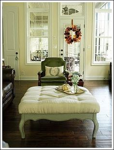 how to make a tufted ottoman from a coffee table DIY Furniture
