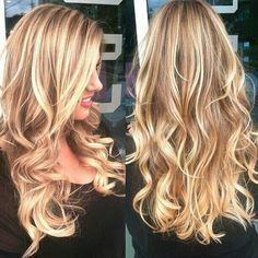 Long honey blonde/ drk golden blonde piecey hair Via twitter