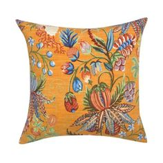 Orange Jacaranda Pillow